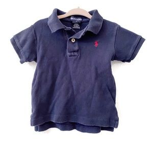 Ralph Lauren Blue Short Sleeve Polo Shirt Size 2T
